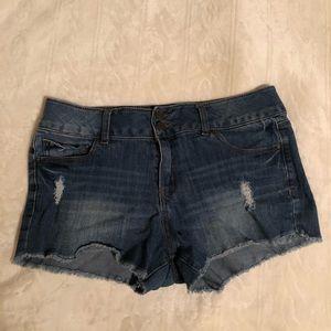 Denim Distressed Shorts (10 U.S. Women's)